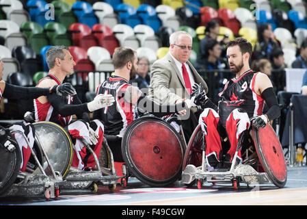London, UK. 15. Oktober 2015. JPN verliert, kann 50-60. am 4. Tag der BT-World Rollstuhl Rugby Challenge. 15. Oktober - Stockfoto