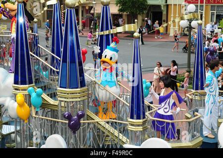 Eine Dream Come True Parade im Disneys Magic Kingdom in Disney World, Orlando, Florida. - Stockfoto