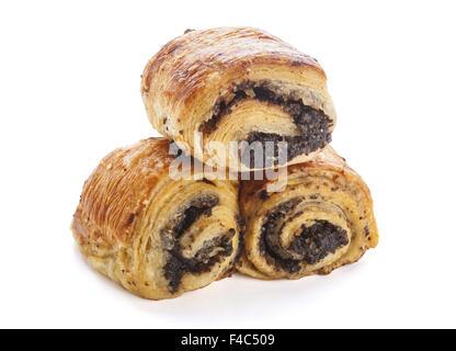 Süße Brötchen mit Mohn - Stockfoto