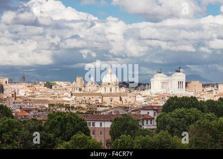 Übersicht über zentrale Rom vom Gianicolo-Hügel. Rom, Italien ...