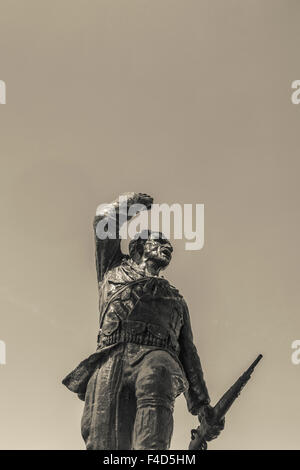Albanien, Tirana, unbekannten Partisanen statue - Stockfoto
