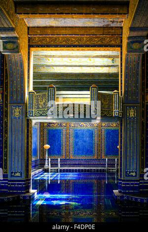 Die gefliesten Roman indoor Pool im Hearst Castle. Stil auf den Caracalla im antiken Rom C: 211-217 - Stockfoto