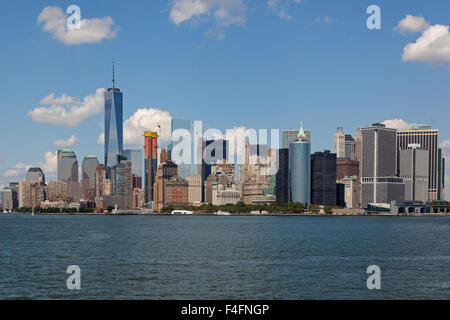 Skyline von Lower Manhattan, New York City, USA - Stockfoto