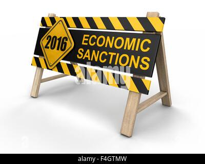 Wirtschaftliche Sanktionen zu unterzeichnen. Bild mit Beschneidungspfad - Stockfoto