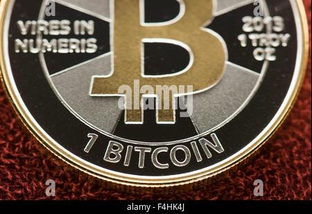 Bitcoin Silbermünze