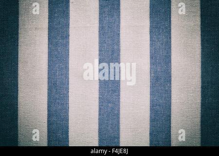 """blau weiße Vintage Struktur Stoff Baumwolle Hintergrund Baumwolle Textile Tischdecke """"Gingham"""" alten Vintage-Effekt - Stockfoto"""