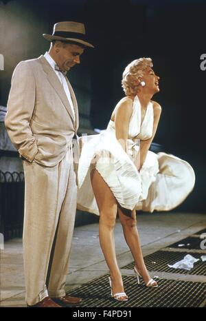 Tom Ewell, Marilyn Monroe / The sieben Jahr Jucken 1954 unter der Regie von Billy Wilder - Stockfoto