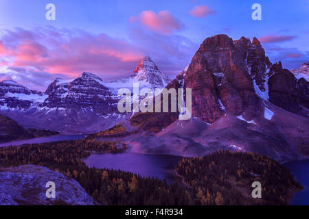 Kanada, Mount Assiniboine, Peaks, Lake Magog, provincial Park, Britisch-Kolumbien, landschaftlich schön, Landschaft, - Stockfoto