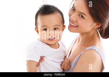 Mutter mit dem baby - Stockfoto
