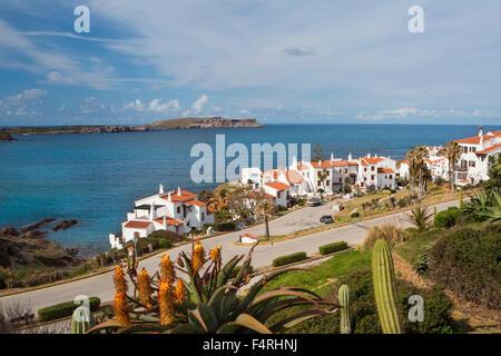 Fornells, Menorca, Balearen, Spanien, Europa, Frühling, Landschaft, Architektur, Balearen, bunt, mediterran, keine - Stockfoto