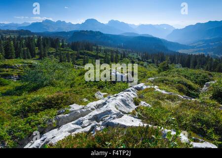 Karst auf dem Pragel Pass, Schwyz, Schweiz - Stockfoto