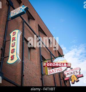 Neon Sign Freilichtmuseum in Edmonton, Alberta, Kanada. - Stockfoto