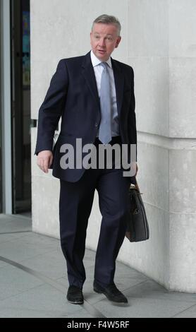 London, Großbritannien, 13. September 2015: Michael Gove, konservativer Politiker, Lordkanzler und Secretary Of - Stockfoto