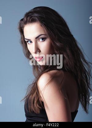 Closeup Portrait einer schönen jungen Frau - Stockfoto