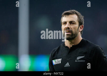Twickenham Stadium, London, UK. 24. Oktober 2015. Rugby World Cup Halbfinale. Südafrika gegen Neuseeland. New Zealand - Stockfoto