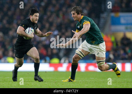 Twickenham Stadium, London, UK. 24. Oktober 2015. Rugby World Cup Halbfinale. Südafrika gegen Neuseeland. New Zealand - Stockfoto