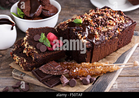 Schokolade Brot Kuchen Mit Pekannussen Und Schokoladenstuckchen