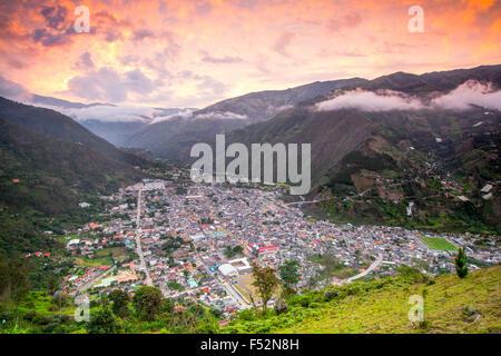 Banos Kanton ist ein Kanton von Ecuador in der Provinz Tungurahua Es ist auch ein Ort mit vielen touristischen Attraktionen - Stockfoto