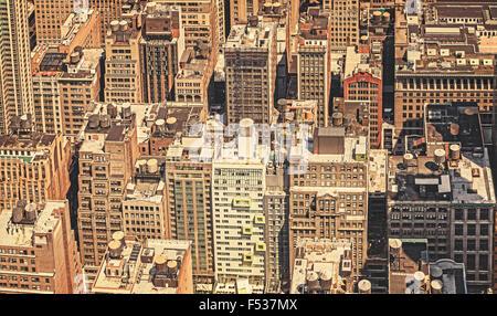 Retro-gefilterte Bild von New York City, USA. - Stockfoto