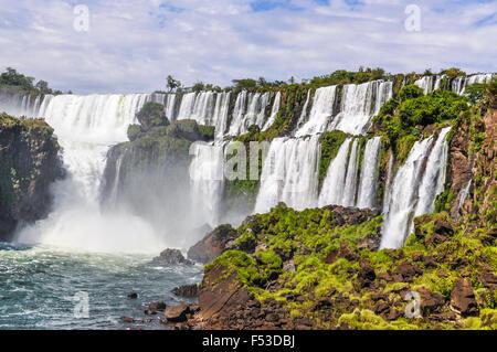 San Andres in Iguazu Wasserfälle, eines der neuen sieben Weltwunder der Natur, Argentinien - Stockfoto