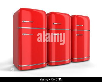 Retro Kühlschrank Rot Günstig : Retro kühlschrank isoliert stockfoto bild alamy