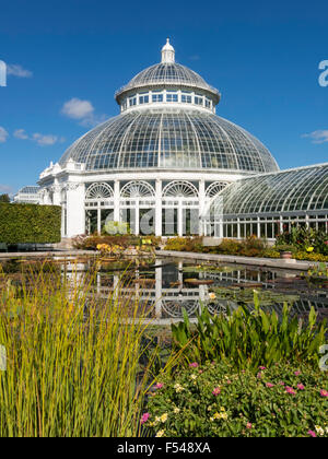 Haupt-Konservatorium in der New York Botanical Garden, der Bronx, NY, USA - Stockfoto