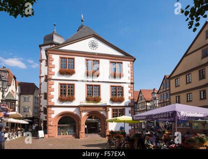 Alte Stadt Halle und die oberen Marktplatz, Lohr bin Main, Spessart, Unterfranken, Franken, Bayern, Deutschland - Stockfoto