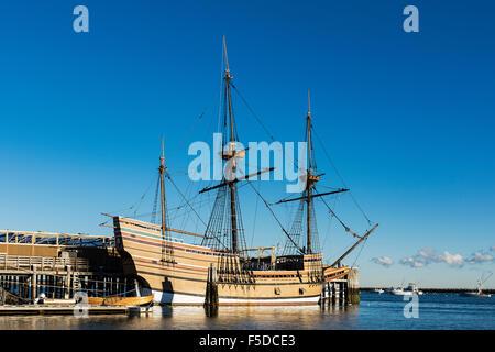 Mayflower II ist eine Nachbildung des 17. Jahrhundert Schiff Mayflower, für den Transport von den Pilgern in die - Stockfoto