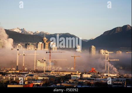 Skyline von Vancouver BC im Jahr 2007 - Stockfoto