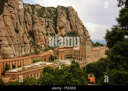 Kloster, Berg Montserrat, in der Nähe von Barcelona, Katalonien, Spanien, Europa