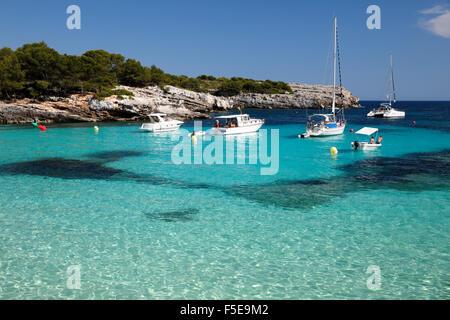 Cala En Turqueta, Süd-Westküste, in der Nähe von Ciutadella, Menorca, Balearen, Spanien, Mittelmeer, Europa - Stockfoto