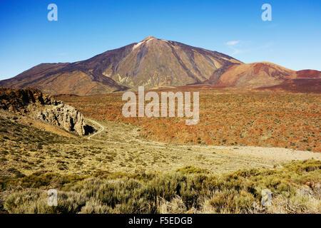 Pico del Teide, Parque Nacional del Teide, UNESCO-Weltkulturerbe, Teneriffa, Kanarische Inseln, Spanien, Europa - Stockfoto