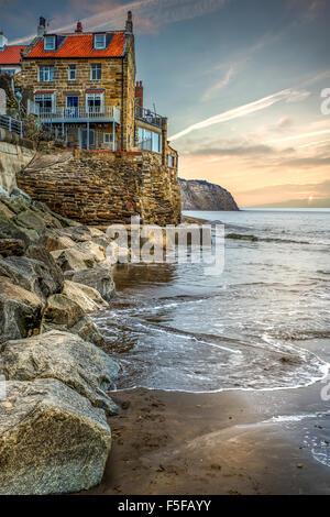 Robin Hauben Bay, North Yorkshire, England - Stockfoto