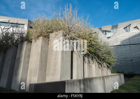 Ölweiden wachsen im Garten des Exils, Jüdisches Museum, Lindenstrasse, Berlin, Deutschland, Europa - Stockfoto
