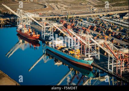 Verschiffungshafen, Los Angeles, Kalifornien, USA - Stockfoto