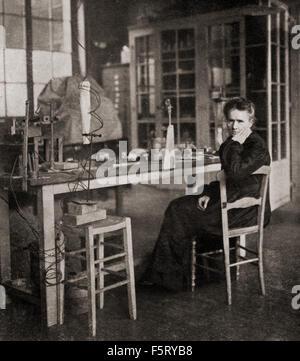 Marie Skłodowska-Curie, 1867-1934.  Polnischen und eingebürgert Französisch Physiker und Chemiker, bahnbrechende - Stockfoto