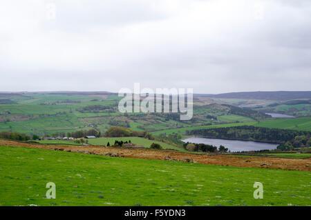 Oberen Bradfield Dämme und Landschaft Sheffield United Kingdom Yorkshire Gewässer - Stockfoto