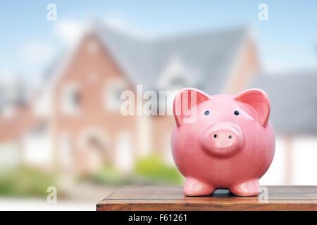 Speichern Sie ein Haus kaufen - Stockfoto