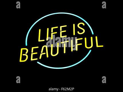 """Logo für das """"Das Leben ist schön"""" Festival in Las Vegas, Nevada - Stockfoto"""