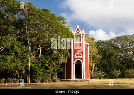Kapelle der Santa Rosa Hacienda in Yucatan, Mexiko. - Stockfoto