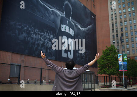 LeBron James Banner Cleveland, Ohio Stockfoto, Bild: 209947592 - Alamy