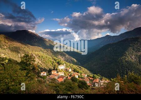 Dorf von Letia St. Matin Corsica - Stockfoto