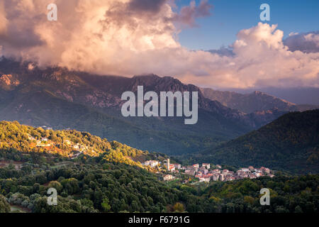 Dorf von Chigliani Korsika - Stockfoto
