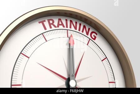 Kompass und ein Pfeil, der Wort-training - Stockfoto