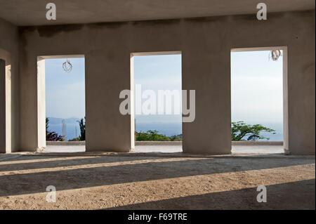 Rohbau eines Privathauses auf der Halbinsel Pilion in Griechenland - Stockfoto