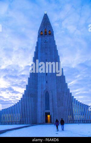 Hallgrimskirkja Kirche in Reykjavik, Island - Stockfoto