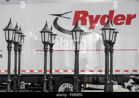 Lichtmasten Vermietung van, Los Angeles, Kalifornien, USA - Stockfoto