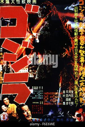 Erscheinungsdatum: 27. April 1956. FILMTITEL: Godzilla. STUDIO: Jewell Enterprises Inc. PLOT: Wenn amerikanischer - Stockfoto
