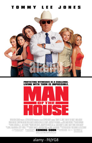 Datum der Freigabe: 25. Februar 2005 Film Titel: Mann im Haus Studio: Revolution Studios PLOT: Texas Ranger Roland - Stockfoto