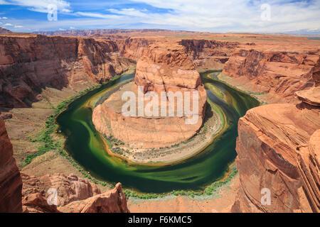 der Horseshoe Bend im Glen Canyon in der Nähe von Page, arizona - Stockfoto